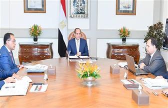 الرئيس السيسي يجتمع مع رئيس مجلس الوزراء ووزير المالية
