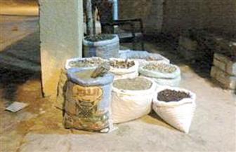 ضبط أكثر من 60 طن أعشاب طبية مجهولة المصدر داخل مخزن بالإسكندرية