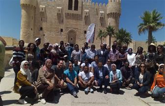 جولة لمتدربي البرنامج الرئاسي لتأهيل الشباب الإفريقي بقلعة قايتباي بالإسكندرية |صور
