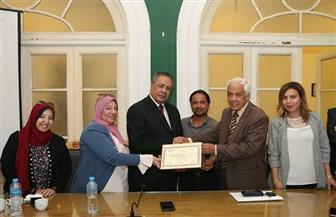 رئيس اللجنة النوعية للثقافة بالوفد يكرم الإعلامي أحمد أسامة عمر | صور