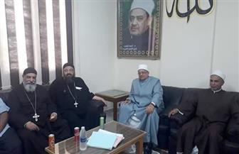 رئيس منطقة البحر الأحمر الأزهرية يستقبل وفد الكنيسة الأرثوذكسية بديوان عام المنطقة