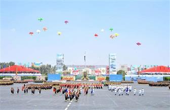"""خريجو الكليات العسكرية يرددون خلف الرئيس السيسي """"تحيا مصر"""""""