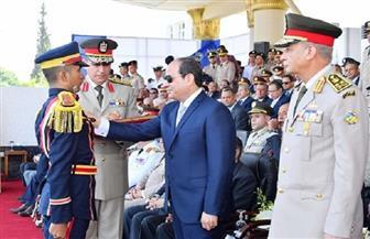 الرئيس السيسي: نجحنا في التصدي لمخططات الإرهاب بفضل الجيش والشرطة