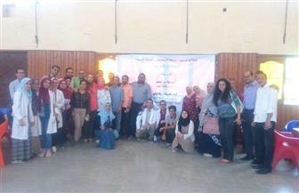 جامعة حلوان تنظم قافلة طبية بمركز شباب حلوان غرب | صور