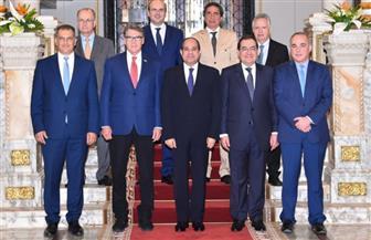 الرئيس السيسي يستقبل رؤساء الوفود المشاركين في اجتماع منتدى غاز شرق المتوسط   صور