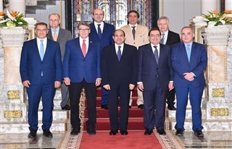 تفاصيل لقاء الرئيس السيسي رؤساء الوفود المشاركة في الاجتماع الوزاري الثاني لمنتدى غاز شرق المتوسط
