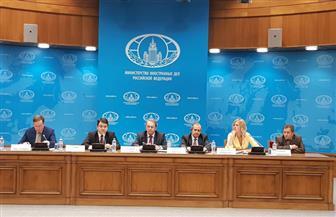 السفير المصري بموسكو ونائب وزير الخارجية الروسي يطلعان الأفارقة على ترتيبات قمة (روسيا / إفريقيا)  صور