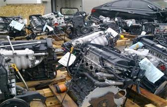 ضبط قطع غيار سيارات مجهولة المصدر داخل أحد المحال التجارية بالقاهرة