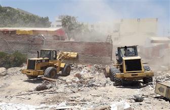 إزالة تعديات على 4500 متر من أراضي الدولة بالغردقة | صور