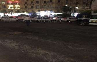 إغلاق شارع محمود بسيوني بوسط البلد بسبب اشتعال النيران بمقر شركة | صور