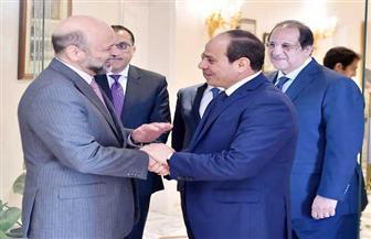 """الرئيس السيسي يستقبل رئيس وزراء الأردن ويشيد باجتماعات الدورة الـ28 للجنة العليا """"المصرية - الأردنية"""" المشتركة"""