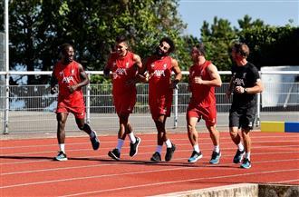 محمد صلاح يعود إلى تدريبات ليفربول   صور