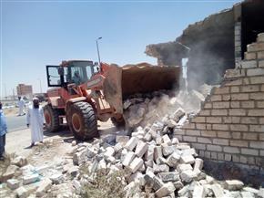 إزالة 60 فدان تعديات على أراضي الدولة بالسويس