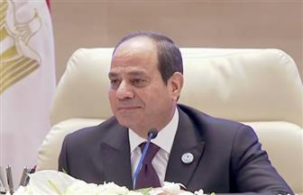 """الرئيس السيسي يصل مقر انعقاد جلسة """"اسأل الرئيس"""" بالمؤتمر الوطني السابع للشباب"""