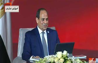 """الرئيس السيسي للمصريين: """"ردوا على المتآمرين بالعمل"""""""