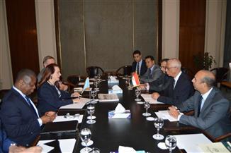السفير حمدي لوزا يستقبل رئيس الجمعية العامة للأمم المتحدة