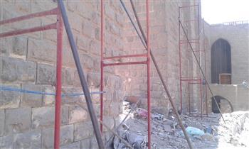 بدء أعمال مشروع ترميم سور مجرى العيون | صور