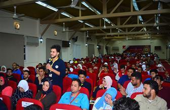 معهد إعداد القادة بحلوان يواصل الفعاليات التثقيفية لطلاب الجامعات| صور