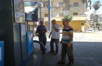 تكثيف الحملات على المواقف ومحطات الوقود بعد تحريك الأسعار في المنصورة   صور