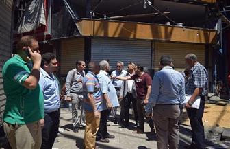 غرفة القاهرة: الانتهاء من الحصر النهائي لمتضرري سوق العتبة خلال ساعات   صور