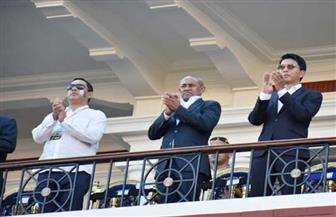 رئيس مدغشقر يحضر مباراة منتخب بلاده أمام الكونغو بإستاد الإسكندرية