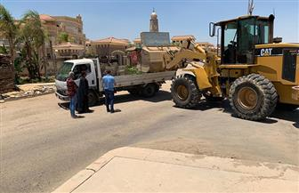 حملات إزالة مخالفات شاطئ بورسعيد تتواصل لليوم الثاني على التوالي