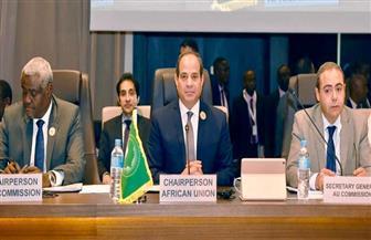نص كلمة الرئيس السيسي في افتتاح القمة التنسيقية الأولى للاتحاد الإفريقي والتجمعات الاقتصادية الإقليمية