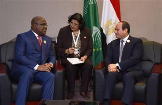 الرئيس السيسي يلتقي رئيس جمهورية الكونغو على هامش قمة الاتحاد الإفريقي التنسيقية المصغرة