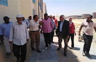 مساعد نائب رئيس هيئة المجتمعات العمرانية الجديدة يقوم بجولة تفقدية بمدينة 15 مايو|صور