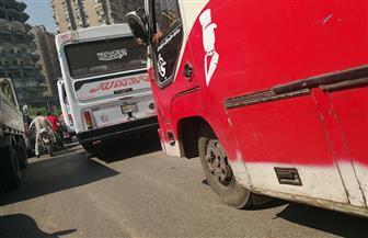 تكدس مرورى بطريق كورنيش شبرا الخيمة اتجاه ميدان التحرير| صور