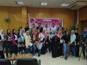 تدريب 60 طالبا بجامعة حلوان على العمل التليفزيوني  صور