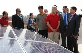 محافظ المنوفية يفتتح أول مدرسة تعمل بالطاقة الشمسية | صور