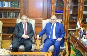رئيس هيئة النيابة الإدارية يستقبل رئيس ائتلاف دعم مصر | صور