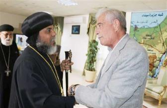 فودة يستقبل الأنبا أبولو أسقف جنوب سيناء ووفدا من كاتدرائية السمائيين للتهنئة بعيد الأضحى المبارك