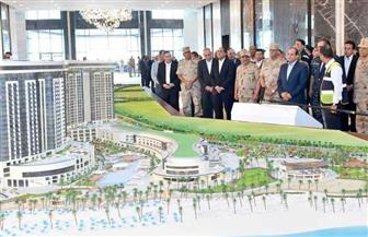 الرئيس السيسي يتفقد منتجع ماسة العلمين| فيديو وصور