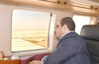 الرئيس السيسي يتفقد مشروعات الصوب الزراعية بقاعدة محمد نجيب| فيديو