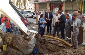 الانتهاء من إصلاح خط مياه منطقة الزهراء بسوهاج | صور