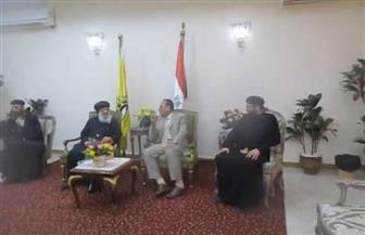 وفد الكنيسة الأرثوذكسية يهنىء محافظ شمال سيناء بعيد الأضحى