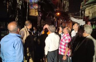 رفع آثار حريق شارع مصر التجاري بالإسماعيلية وفتحه أمام حركة المرور