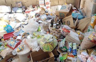 ضبط أكثر من طني مواد غذائية غير صالحة للاستهلاك داخل مخزنين بالقاهرة
