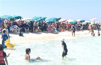 شواطئ مطروح كاملة العدد رابع أيام العيد   صور