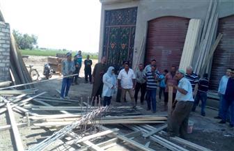إزالة 12 بناء مخالفا ورفع 413 طن قمامة بمركز المنصورة خلال العيد
