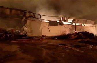 """خسائر """"حريق شرق العوينات"""" تفحم 2000 طن """"دريس"""" ومعدات زراعية وخط إنتاج"""