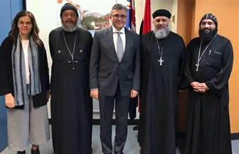 القنصل المصري يستقبل وكيل إيبارشية الكنيسة القبطية في ملبورن وتوابعها