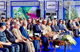 الرئيس  السيسي يزيح الستار عن مشروع الـ1300 صوبة زراعية على مساحة 10 آلاف فدان