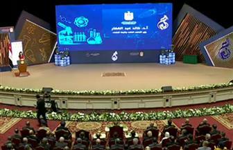 الرئيس السيسي يشاهد فيلما تسجيليا حول أهمية البحث العلمى فى مصر