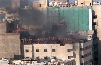 السيطرة على حريق نشب داخل فندق في الإسكندرية بسبب الشيشة | صور
