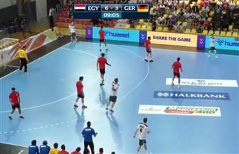 مصر تتقدم على ألمانيا 3/6 بعد مرور عشر دقائق بنهائى كأس العالم لكرة اليد للناشئين
