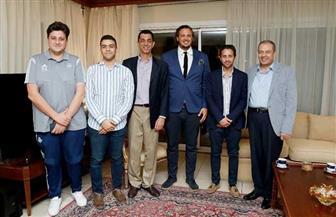 سفير مصر بالكونغو يستقبل بعثة فريق بيراميدز