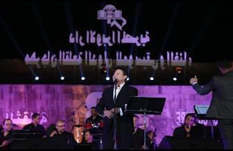 أمير الغناء العربي يطرب الحضور في مهرجان القلعة للموسيقى  صور